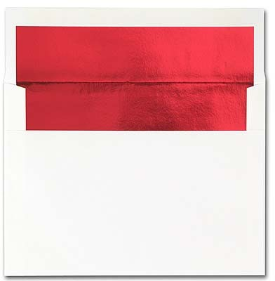 Bright White w/ Red Foil Lining