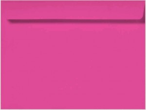 9 x 12 Booklet Envelopes - 28 lb. Bright Pink - Envelope Ink