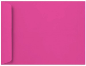 9 x 12 Catalog Envelopes - 28 lb. Bright Pink - Envelope Ink