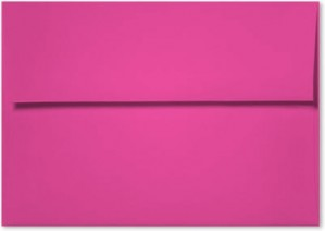 A6 Envelopes - 60 lb. Glo-Tone Shocking Pink