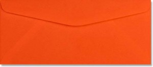 #10 Regular Envelopes - 24 lb. Bright Orange - Envelope Ink
