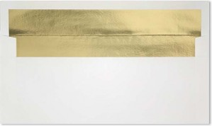 Bright White w/ Gold Foil Lining