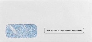 W-2 / 1099 Form Envelopes #4 - 24 lb. White